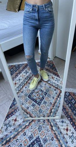 Boutique Ware Jeans taille haute bleu clair-bleu azur