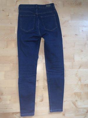 Bershka Hoge taille jeans donkerblauw-blauw