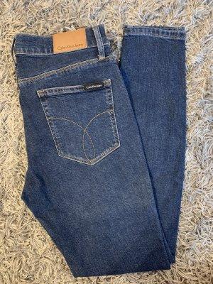 Calvin Klein Jeans Jeans taille haute bleu