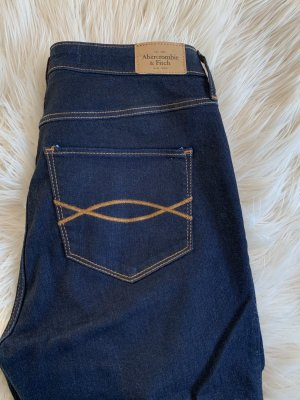 Abercrombie & Fitch Tube jeans blauw-donkerblauw