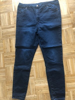 Asos Denim Hoge taille jeans donkerblauw