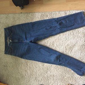 Monki Hoge taille jeans donkerblauw-blauw