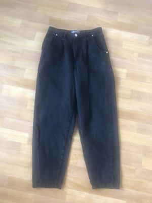 Mango High Waist Trousers black