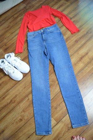 ASOS DESIGN Hoge taille jeans staalblauw