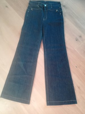 Mango Jeans Hoge taille jeans donkerblauw
