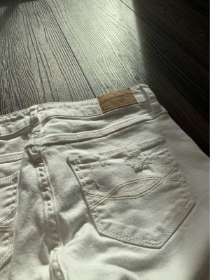 Abercrombie & Fitch High Waist Trousers white