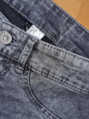 H&M Divided High Waist Trousers light grey-grey
