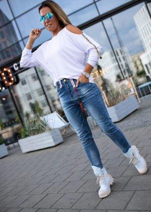 Bastet Hoge taille jeans blauw