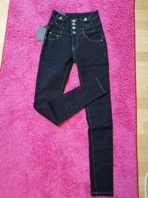 By Sasha High Waist Trousers dark blue