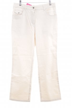 Hoge taille jeans beige casual uitstraling