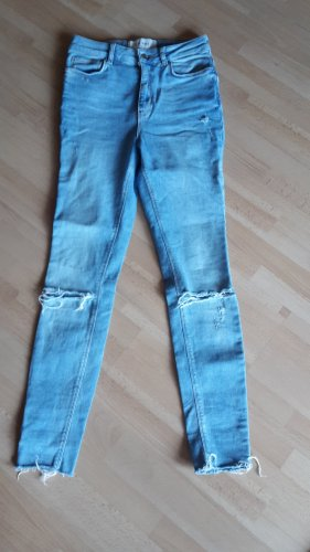Only Hoge taille jeans lichtblauw