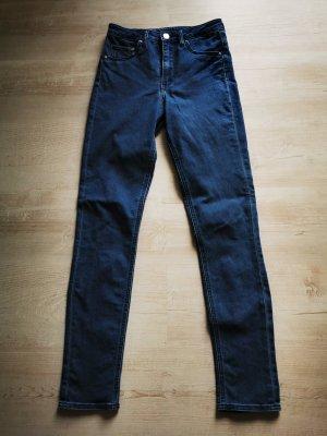 High Waist Jeans, Gr. 26, dunkelblau