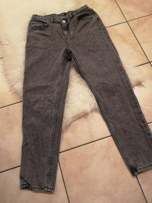 Pull & Bear Hoge taille broek grijs-donkergrijs