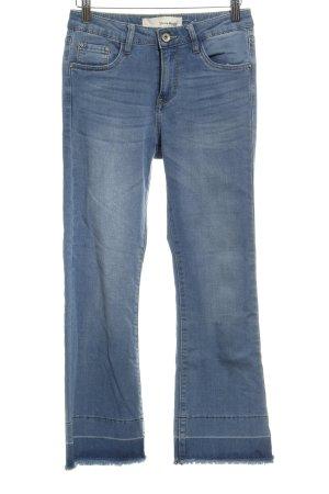 Jeansy z wysokim stanem chabrowy-błękitny W stylu casual