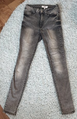 Mango Denim & Tees Jeans a vita alta grigio chiaro-grigio scuro