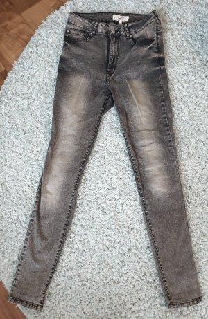 Mango Denim & Tees Hoge taille jeans lichtgrijs-donkergrijs