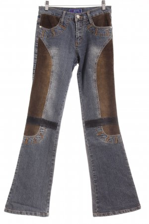 Hoge taille jeans veelkleurig country stijl