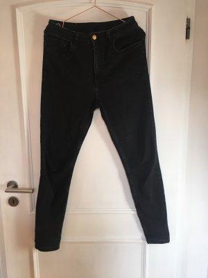 Reclaimed Vintage Hoge taille jeans zwart