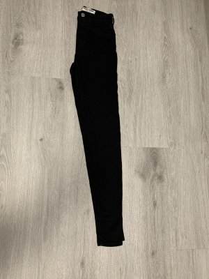 High-waist Jeans schwarz