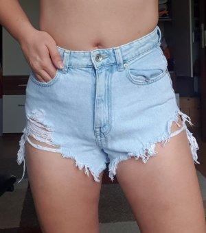 High-Waist Jeans Shorts Zara