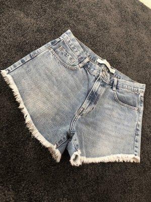 High Waist Jeans Shorts Zara