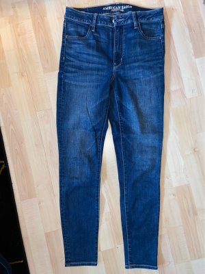 American Eagle Outfitters Jeans taille haute bleu