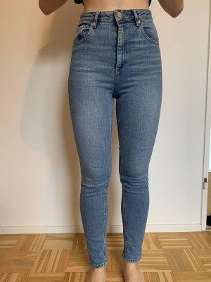 Asos Denim Jeans taille haute bleu-bleu clair