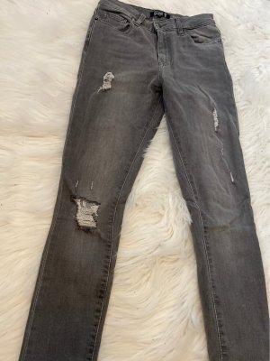 Even & Odd Jeans a vita alta grigio scuro