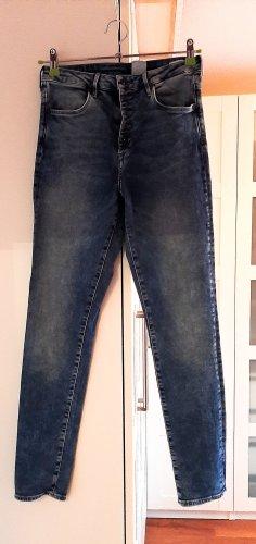 High-Waist Jeans von H&M, blau, Gr. 28/30