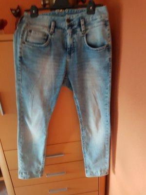Herrlicher Hoge taille jeans lichtblauw Katoen