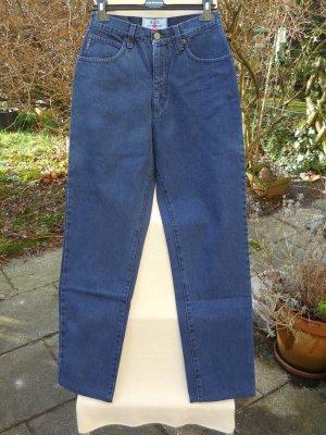 Les Copains High Waist Jeans dark blue cotton