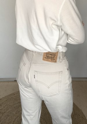 Levi's Hoge taille jeans wolwit-licht beige