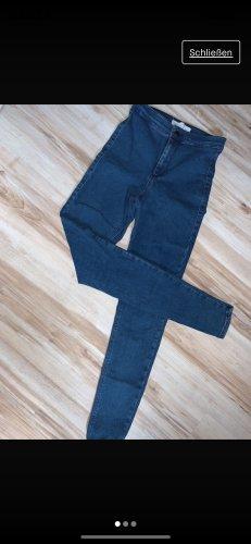 Topshop Jeans a vita alta blu