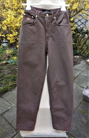 High Waist Jeans von Trussardi Jeans in Braun, Vintage