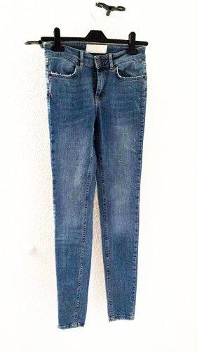 Vero Moda Hoge taille jeans azuur-korenblauw Katoen