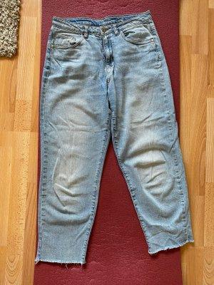 Noisy May Jeans a vita alta azzurro