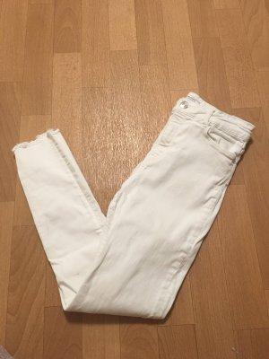 Zara Hoge taille broek wit
