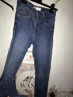 H&M Jeans a vita alta blu fiordaliso
