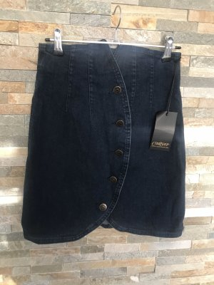 High-Waist Jeansrock  in Wickeloptik in Gr. XS