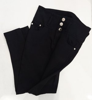 High Waist Jeggings Jeans Schwarz Gr. 34/36