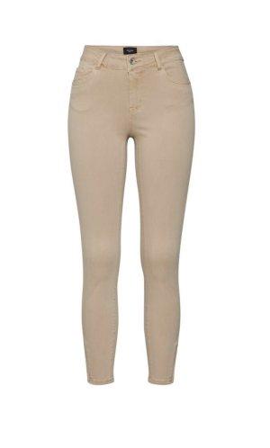 H&M Jeans a vita alta beige-rosa antico Cotone