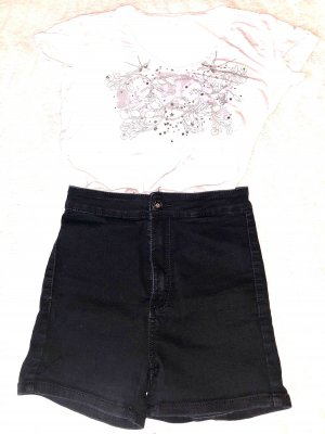 High-Waist Kurz Shorts