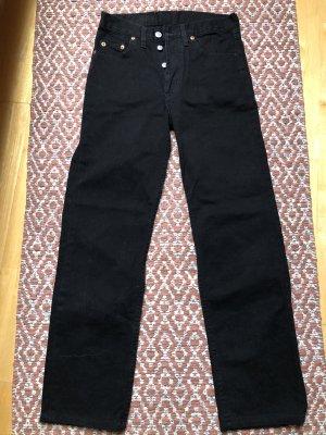 Levi's High Waist Jeans black cotton
