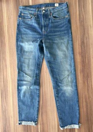 High Waist Levi´s Jeans 27 inch White Oak Wedgie Denim blau Stretch