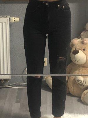 Tally Weijl Spodnie z wysokim stanem czarny