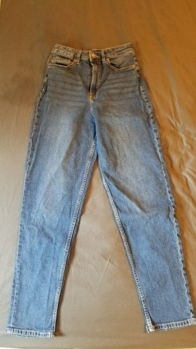 High Waist Mom Jeans in dunkelblau
