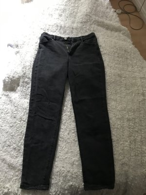 ASOS DESIGN Jeans a vita alta nero Cotone