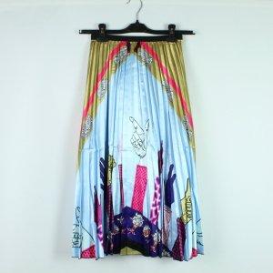 Falda plisada multicolor Poliéster
