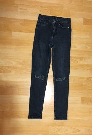 H&M Jeans a vita alta blu scuro