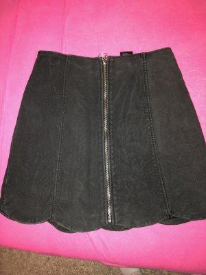Monki Falda de talle alto negro